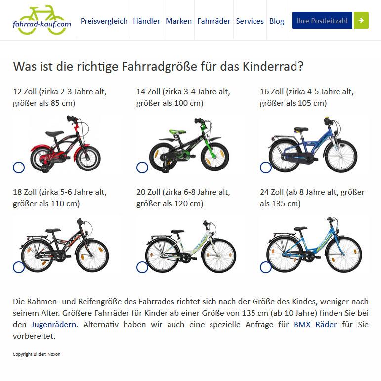 fahrrad-kauf Auswahl Kinderräder