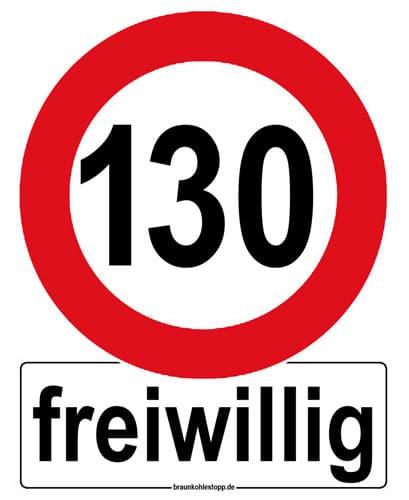 Autoaufkleber freiwillig Tempo 130